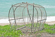 fish trap on the beach..