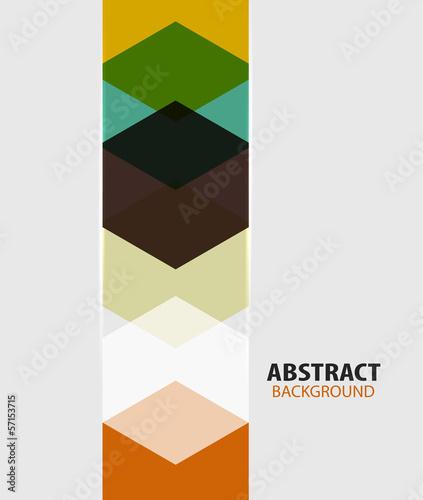 Modern art hexagon abstract background