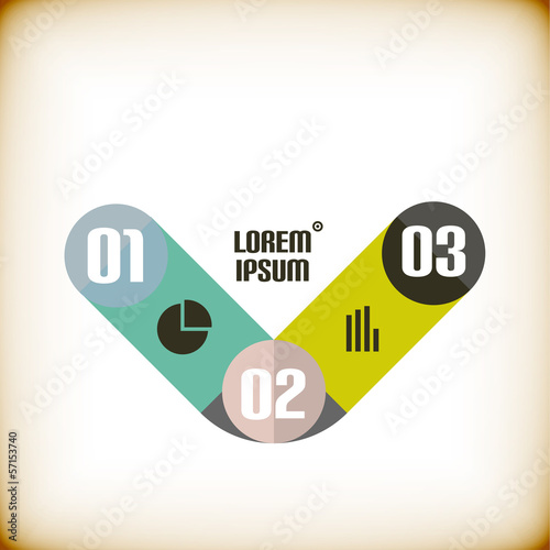 Modern ribbon infographic template