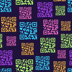 QR Barcode Seamless Pattern