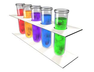 Provette analisi chimica laboratorio