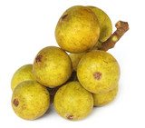 Indian figs named as Dumur fruits over white background