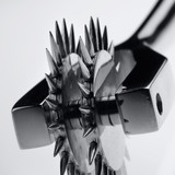 a spike steel pinwheel in fifty shades of grey style