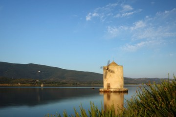Orbetello lagoon Tuscany italy