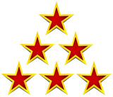 Stars as achievement, certification, premium, decoration, award