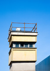 Berlin wall watch tower
