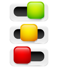 Button, Switch, Toggle, slider user interface element (flat)