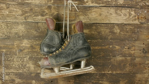 old hockey skates