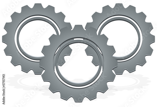 Gear vector icon