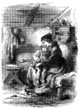 Peasants : Mother & Child at Home - 19th century