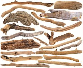 Collection de morceaux de bois
