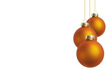Weihnachtskugeln orange