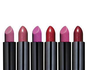 Set of red lipstick
