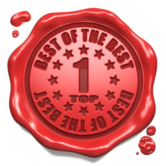 Top 1 in Charts - Stamp on Red Wax Seal.