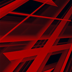 Red angular abstract