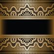 Gold lace on black, vintage background