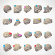 Special Price Stickers Set - Isolated On Background