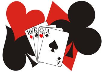 Poker zwischen Pik und Kreuz