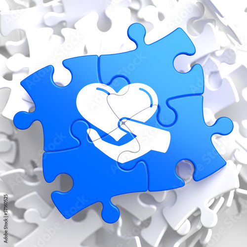 Puzzle Pieces: Charity Concept.
