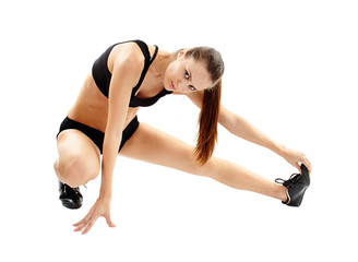 Woman doing streching