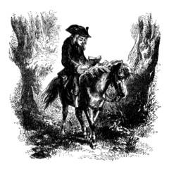 Rider reading - 18th century