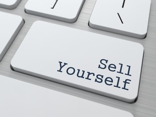 White Keyboard with Sell Yourself Button.