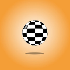 Floating Checkerboard Ball