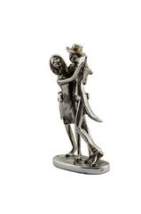 Tangoing metal figurine dancers