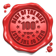 Top 100 in Charts - Stamp on Red Wax Seal.