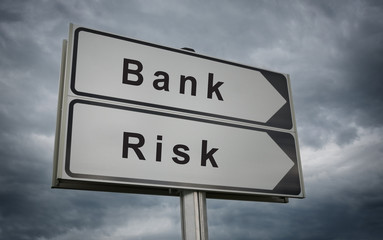 Bank Risk road sign.