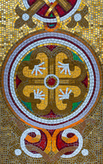 Beautiful stone mosaic pattern.