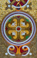 Beautiful stone mosaic pattern.