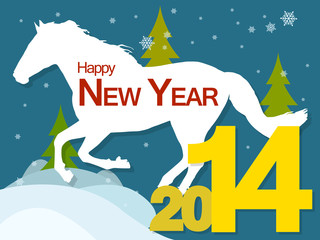 new year 2014 with horse