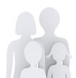 Vater, Mutter, Tocher und Sohn