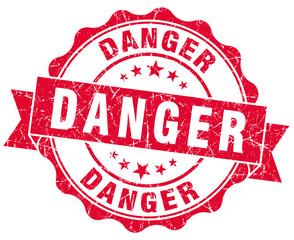 danger red grunge stamp
