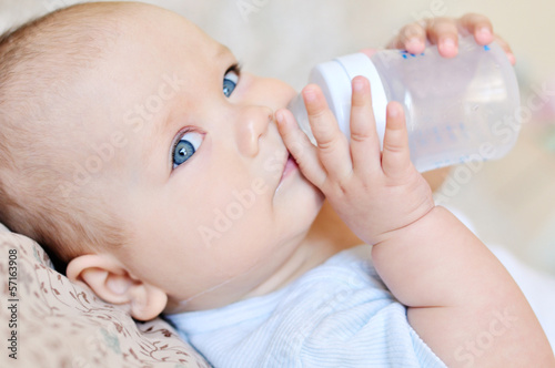 baby with water
