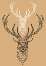 Boże Narodzenie jelenia z geometryczny wzór, wektor