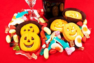 Biscotti di halloween e caramelle gommose