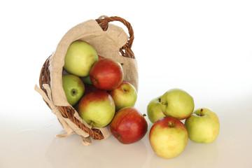 pommes déversées
