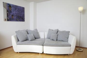 Designer Sofa in einem Apartement