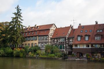 Casas a orillas del río Regnitz en Bamberg