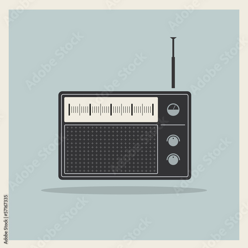 Retro radio receiver vector