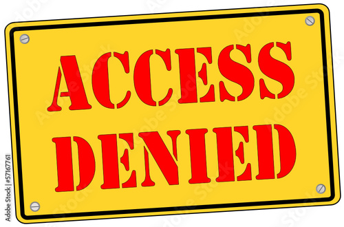 Acess Denied Schild  #131013-svg05