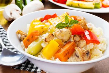 Cous Cous mit Gemüse - Cous cous with veggies
