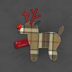 Denim Christmas reindeer