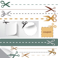Coupon Cut - Vector Illustration