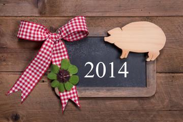 Glückwunschkarte Neujahr 2014 - Neujahrsgrüße