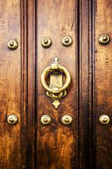 Old wooden door detail.