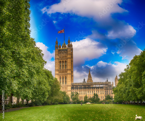 Palace of Westminster (Houses of Parliament) with Victoria Tower