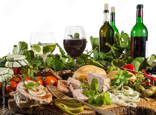 Weinprobe mit Pfälzer Wurstplatte - 57170551